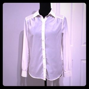 Banana Republic White Button down Blouse